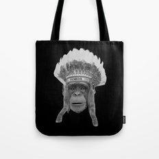 Indian Headdress Monkey Tote Bag