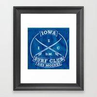 Iowa Surf Club (In White… Framed Art Print