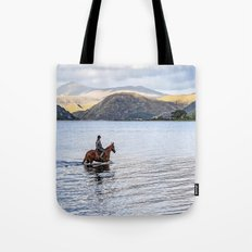 Horse at Airds Bay Loch Etive Tote Bag