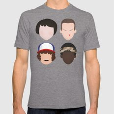 Mike, Eleven, Dustin and Lucas - Stranger Things Mens Fitted Tee Tri-Grey SMALL