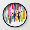Colorful Stripes 4 Wall Clock