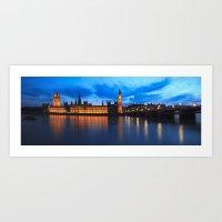 Big Ben Panorama Art Print