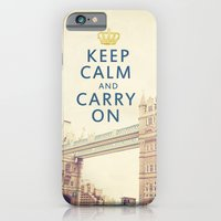 iPhone & iPod Case featuring Keep Calm London by happeemonkee