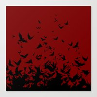 An Unkindness Of Ravens Canvas Print