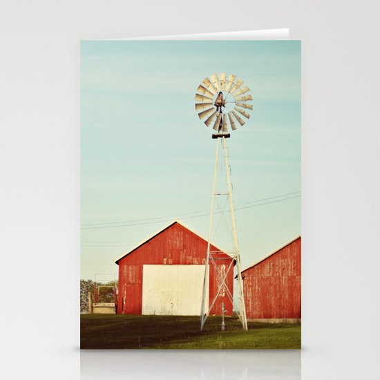 the red barn Stationery Card
