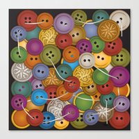 Buttons Canvas Print