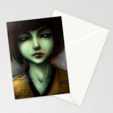 Green skin girl Stationery Cards
