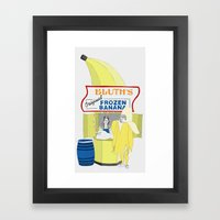 There's Always Money In … Framed Art Print