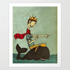 The King of Nothing Art Print