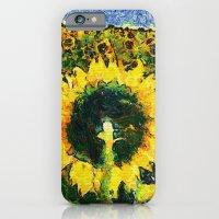 iPhone & iPod Case featuring van Gogh styled sunflowers version 2 by Julia Kovtunyak