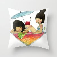 Summer Babies Throw Pillow
