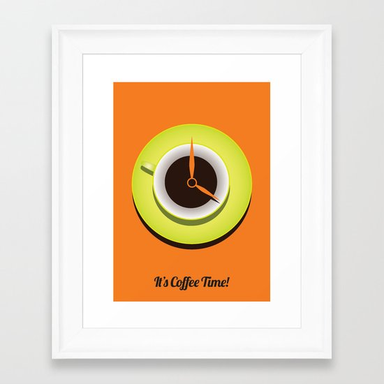 It's Coffee Time Framed Art Print