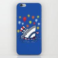 The Patriotic Shark iPhone & iPod Skin