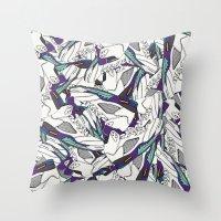 JRDN V GRAPE Throw Pillow