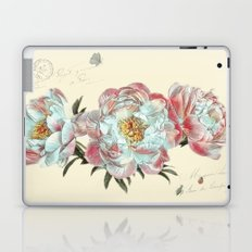 vintage peonies Laptop & iPad Skin