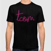 #TCOM Mens Fitted Tee Black SMALL