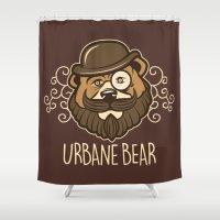 Urbane Bear Shower Curtain
