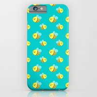iPhone & iPod Case featuring Bees - Pattern by AnishaCreations