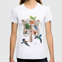 Birds Of Paradise Womens Fitted Tee Ash Grey SMALL