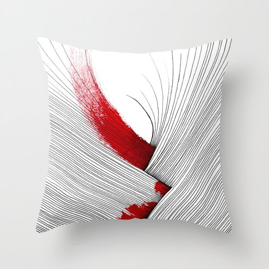 Impact (white version) Throw Pillow