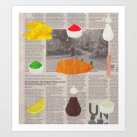 Fish & Chips Art Print