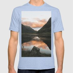Time Is Precious - Landscape Photography Mens Fitted Tee Tri-Blue SMALL