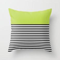 STRIPE COLORBLOCK {LIME} Throw Pillow