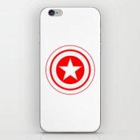 Capitaine Amérique iPhone & iPod Skin