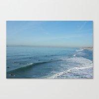 Waves On Sunday Canvas Print