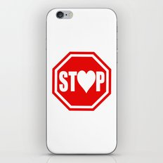 Stop In The Name of Love #1 t-shirt canvas print iPhone & iPod Skin