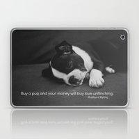 Puppy Love Rudyard Kipling Quote Laptop & iPad Skin