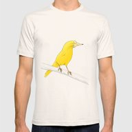 Canary Mens Fitted Tee Natural SMALL