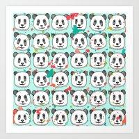 Splatter Pop Panda Cooki… Art Print