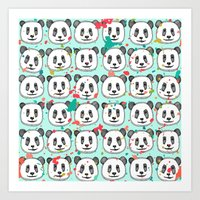 Splatter Pop Panda Cooki… Art Print