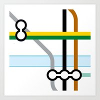 Tube Junction 2 Art Print