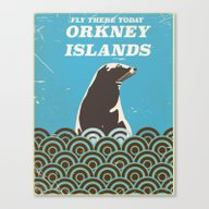 Orkney Islands Vintage T… Canvas Print