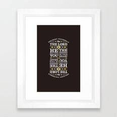 Psalm 37:4 Framed Art Print