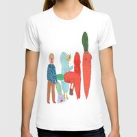 Friends and the garden. Womens Fitted Tee White SMALL