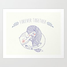 forever together cat Art Print