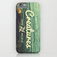 iPhone & iPod Case featuring Creatures dare 2 believe - Swedish summer by Mariana Biller