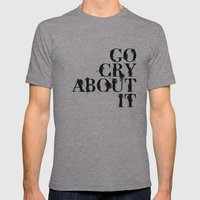 Cry Mens Fitted Tee Athletic Grey SMALL
