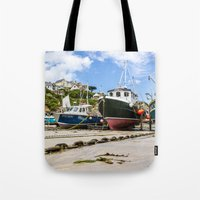 Newquay Harbour Tote Bag