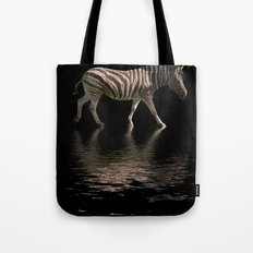 Zebra Reflections Tote Bag