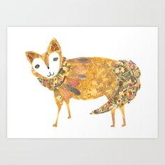 Mr fancy fox Art Print
