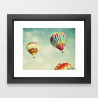 Perfect Dream - Hot Air … Framed Art Print
