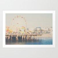 Santa Monica Pier ...  Art Print
