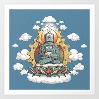 Buddha Bot V6  Art Print