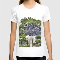 Dragon Rooftop Womens Fitted Tee White SMALL