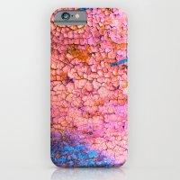 Cracks With Blue Lines iPhone 6 Slim Case