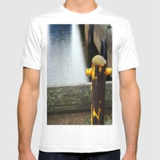 Rainy Dock Mens Fitted Tee SMALL White